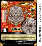 native american game card   Shutterstock .eps vector #1082771864