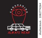 carsharing. idea for the logo... | Shutterstock .eps vector #1082774264