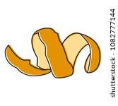 orange peel hand draw vector | Shutterstock .eps vector #1082777144