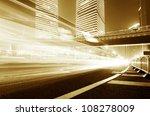the light trails on the modern... | Shutterstock . vector #108278009