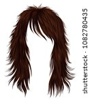 trendy woman long hairs red ... | Shutterstock .eps vector #1082780435