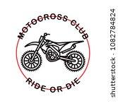 motocross club. hipster... | Shutterstock .eps vector #1082784824
