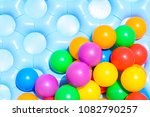 colorful plastic ball ready for ... | Shutterstock . vector #1082790257