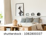 black and white pillows ... | Shutterstock . vector #1082800337