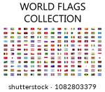 world flags flat icon collection | Shutterstock .eps vector #1082803379