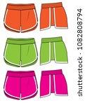 shorts vector design | Shutterstock .eps vector #1082808794
