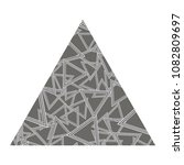 vector grey textured triangle... | Shutterstock .eps vector #1082809697