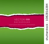 vector realistic green and pink ... | Shutterstock .eps vector #1082816384