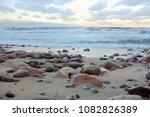 winter beach background | Shutterstock . vector #1082826389