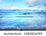 winter beach background | Shutterstock . vector #1082826395