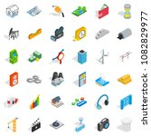 technology icons set. isometric ... | Shutterstock . vector #1082829977