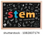 stem education. science... | Shutterstock . vector #1082837174