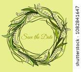 handdrawn wreath made in vector.... | Shutterstock .eps vector #1082841647