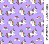 lovely seamless pattern with... | Shutterstock .eps vector #1082843081