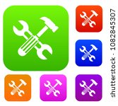 hammer and screw wrench set... | Shutterstock . vector #1082845307