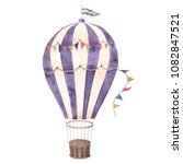 hot air balloon vintage purple... | Shutterstock . vector #1082847521