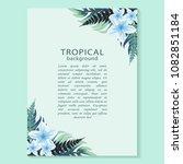 vector vertical banner with... | Shutterstock .eps vector #1082851184