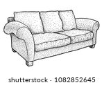 sofa illustration  drawing ... | Shutterstock .eps vector #1082852645