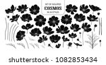 set of isolated silhouette... | Shutterstock .eps vector #1082853434