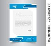 simple color vector letter head ... | Shutterstock .eps vector #1082860514