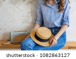 young attractive stylish woman... | Shutterstock . vector #1082863127