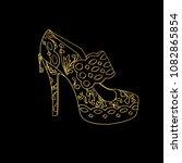 lady hogh heels or woman t... | Shutterstock .eps vector #1082865854