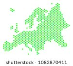 green europe map. vector hex... | Shutterstock .eps vector #1082870411