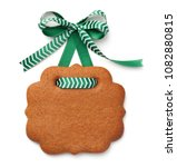 gingerbread cookie in shape of... | Shutterstock . vector #1082880815