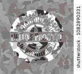 deluxe product on grey camo... | Shutterstock .eps vector #1082890331