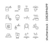 cosmetology icons set with acne ...