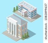 vector 3d isometric hospital ... | Shutterstock .eps vector #1082899637