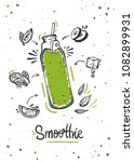 smoothie or detox cocktail day... | Shutterstock .eps vector #1082899931
