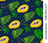 summer pattern with abstract... | Shutterstock .eps vector #1082901227