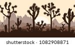 desert seamless pattern with... | Shutterstock .eps vector #1082908871