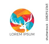 deer logo design. | Shutterstock .eps vector #1082911565
