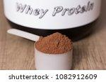 whey protein food supplement... | Shutterstock . vector #1082912609