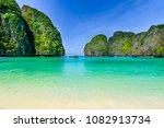 maya bay at phi phi leh island  ... | Shutterstock . vector #1082913734