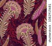 vector ethnic wallpaper.... | Shutterstock .eps vector #1082915681