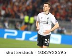 Small photo of ROME, ITALY - MAY 2,2018: Andy Robertson during football match UEFA Champions League football, semi final, second leg; AS Roma versus Liverpool at the Olimpic Stadium in Rome.