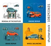 car service concept icons set... | Shutterstock .eps vector #1082923631
