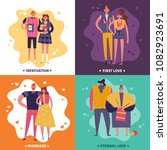 life cycles of man and woman... | Shutterstock .eps vector #1082923691