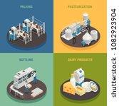 dairy production milk factory... | Shutterstock .eps vector #1082923904