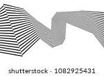 black and white stripe line... | Shutterstock .eps vector #1082925431
