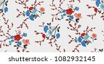 seamless floral pattern in... | Shutterstock .eps vector #1082932145