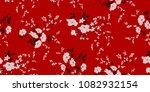 seamless floral pattern in... | Shutterstock .eps vector #1082932154