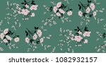 seamless floral pattern in... | Shutterstock .eps vector #1082932157
