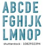 felt alphabet lettering | Shutterstock . vector #1082932394
