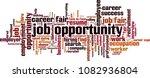 job opportunity word cloud...   Shutterstock .eps vector #1082936804