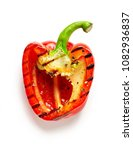 grilled red paprika isolated on ... | Shutterstock . vector #1082936837