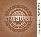 abundant retro wooden emblem   Shutterstock .eps vector #1082943029